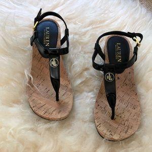 Ralph Lauren Wedge Sandals SZ 7